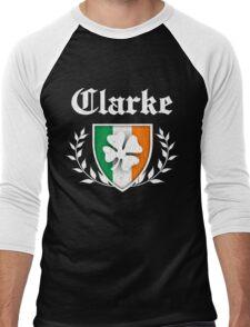 Clarke Family Shamrock Crest (vintage distressed) Men's Baseball ¾ T-Shirt