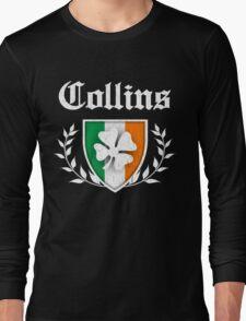 Collins Family Shamrock Crest (vintage distressed) Long Sleeve T-Shirt