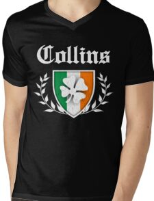Collins Family Shamrock Crest (vintage distressed) Mens V-Neck T-Shirt