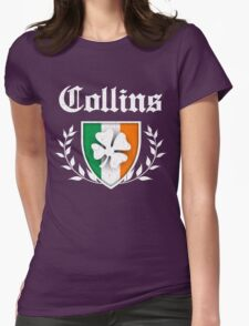 Collins Family Shamrock Crest (vintage distressed) Womens Fitted T-Shirt