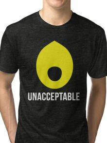 'Lemongrab UNACCEPTABLE': Adventure Time Inspired Design - Minimalist Geek Chic Tri-blend T-Shirt
