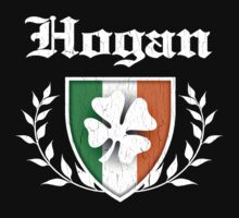 Hogan Family Shamrock Crest (vintage distressed) Kids Clothes