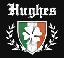Hughes Family Shamrock Crest (vintage distressed) by robotface