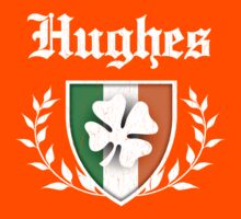 Hughes Family Shamrock Crest (vintage distressed) Kids Clothes