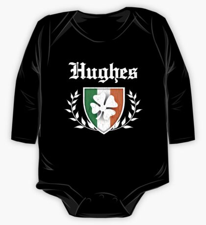 Hughes Family Shamrock Crest (vintage distressed) One Piece - Long Sleeve