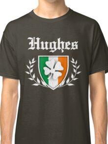 Hughes Family Shamrock Crest (vintage distressed) Classic T-Shirt