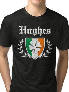 Hughes Family Shamrock Crest (vintage distressed) Tri-blend T-Shirt