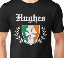 Hughes Family Shamrock Crest (vintage distressed) Unisex T-Shirt