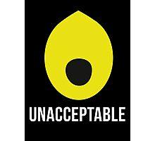 'Lemongrab UNACCEPTABLE': Adventure Time Inspired Design - Minimalist Geek Chic Photographic Print