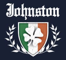 Johnston Family Shamrock Crest (vintage distressed) One Piece - Long Sleeve
