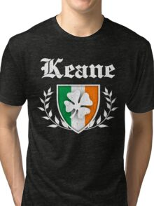 Keane Family Shamrock Crest (vintage distressed) Tri-blend T-Shirt