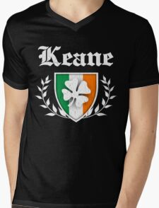 Keane Family Shamrock Crest (vintage distressed) Mens V-Neck T-Shirt