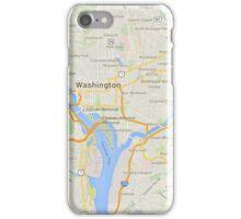 maps: washington iPhone Case/Skin