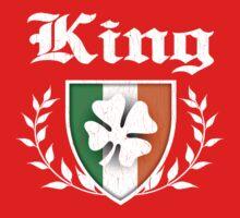 King Family Shamrock Crest (vintage distressed) One Piece - Short Sleeve