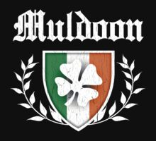 Muldoon Family Shamrock Crest (vintage distressed) by robotface