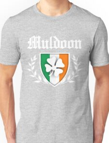 Muldoon Family Shamrock Crest (vintage distressed) Unisex T-Shirt