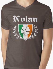 Nolan Family Shamrock Crest (vintage distressed) Mens V-Neck T-Shirt