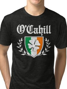 O'Cahill Family Shamrock Crest (vintage distressed) Tri-blend T-Shirt