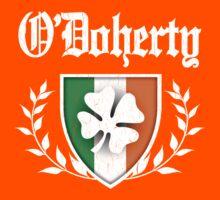 O'Doherty Family Shamrock Crest (vintage distressed) Kids Tee