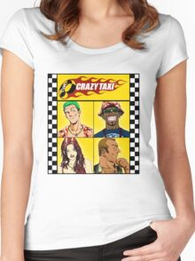 Crazy Taxi Women's Fitted Scoop T-Shirt