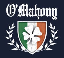 O'Mahony Family Shamrock Crest (vintage distressed) Kids Tee