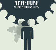 Minimalist Portal 2 Inspired Design - Aperture Science Humour (Gaming) Sticker