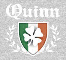 Quinn Family Shamrock Crest (vintage distressed) Kids Clothes