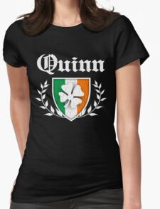 Quinn Family Shamrock Crest (vintage distressed) Womens Fitted T-Shirt