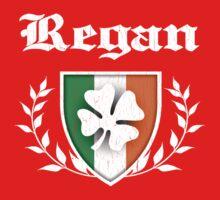 Regan Family Shamrock Crest (vintage distressed) Baby Tee