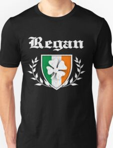 Regan Family Shamrock Crest (vintage distressed) Unisex T-Shirt