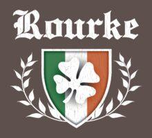 Rourke Family Shamrock Crest (vintage distressed) Kids Clothes