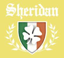 Sheridan Family Shamrock Crest (vintage distressed) Kids Clothes