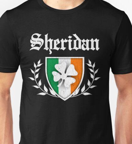 Sheridan Family Shamrock Crest (vintage distressed) Unisex T-Shirt