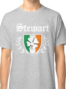 Stewart Family Shamrock Crest (vintage distressed) Classic T-Shirt