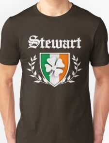 Stewart Family Shamrock Crest (vintage distressed) T-Shirt