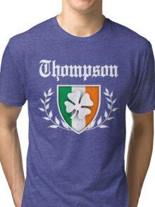 Thompson Family Shamrock Crest (vintage distressed) Tri-blend T-Shirt