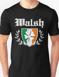 Walsh Family Shamrock Crest (vintage distressed) T-Shirt