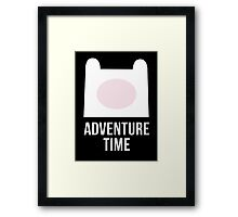 'Finn the Human': Adventure Time Inspired Design - Minimalist Geek Chic Framed Print