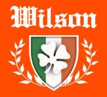 Wilson Family Shamrock Crest (vintage distressed) Kids Tee