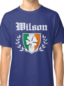 Wilson Family Shamrock Crest (vintage distressed) Classic T-Shirt