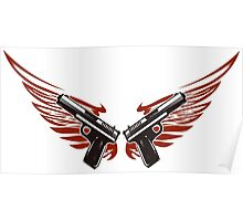 Guns with wings Poster