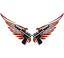 Guns with wings Photographic Print