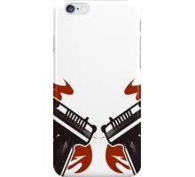 Guns with wings iPhone Case/Skin
