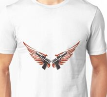 Guns with wings Unisex T-Shirt