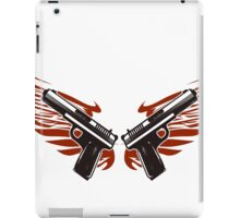 Guns with wings iPad Case/Skin