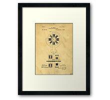 Nikola Tesla Electro Magnetic Motor Patent Framed Print