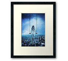 Swinging girl Framed Print