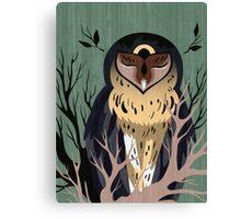 Wooden Owl Canvas Print