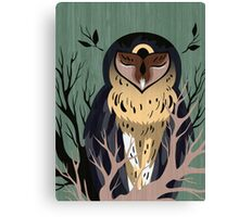 Wooden Owl Canvas Print