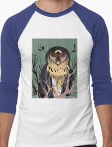 Wooden Owl Men's Baseball ¾ T-Shirt